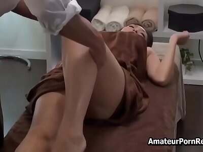 Carnal knowledge Japanese Rub-down To Amateur Milf Big Titts