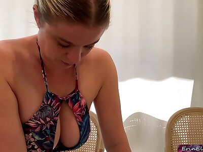 Stepmom helps their way stepson study - Erin Electra