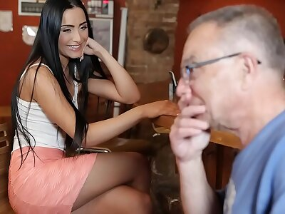 Horny Czech Babe Can't Resist Old Man's Charms - Anna Rose