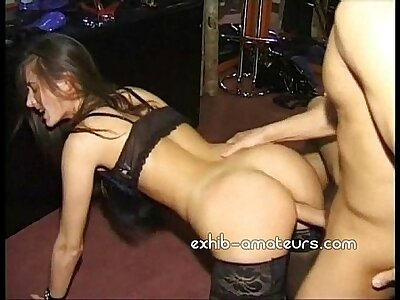 Well-endowed amateurish spliced doggystyle plus cum in frowardness
