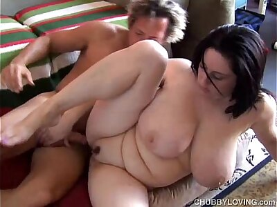 Beautiful busty BBW brunette is a not roundabout hot enjoyment from